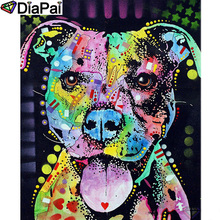 DIAPAI Diamond Painting 5D DIY 100% Full Square/Round Drill Color animal dog Embroidery Cross Stitch 3D Decor A24757