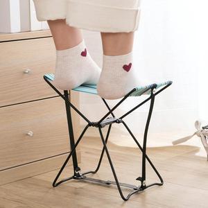 Image 2 - กลางแจ้งพับเก้าอี้พับเก้าอี้สตูลตกปลารถไฟ Bench เก้าอี้ชายหาดแบบพกพา 1 กระเป๋าเก็บฟรี
