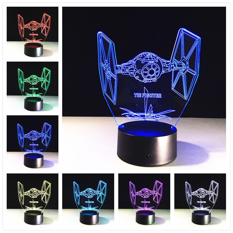 Star Wars Death star 3D LED Night Light Touch Switch Table Lamp USB 7 Color LED Lighting for Gift 3D Globe lamp image