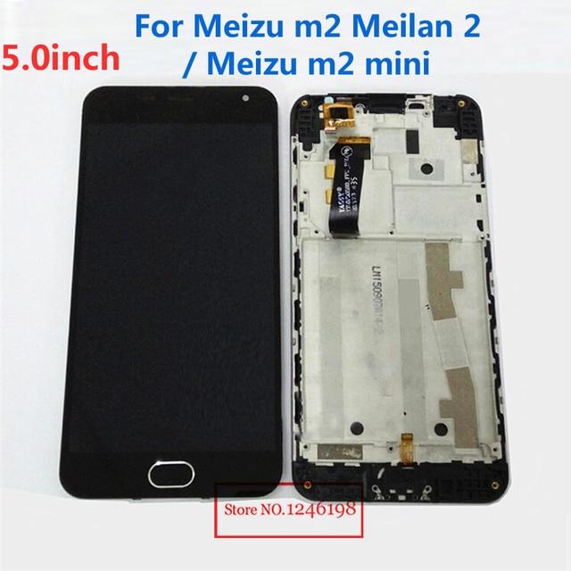 """5.0 """" tela de LCD + de toque digitador + montagem com quadro de fundo para o Meizu m2 Meilan 2 m2 mini"""