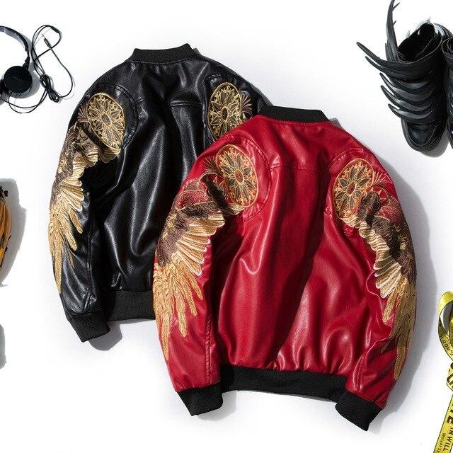 Nieuwe Kleding Mode.Mannen Winter Herfst Nieuwe Kleding Mannen Mode Rode Zwarte Lange
