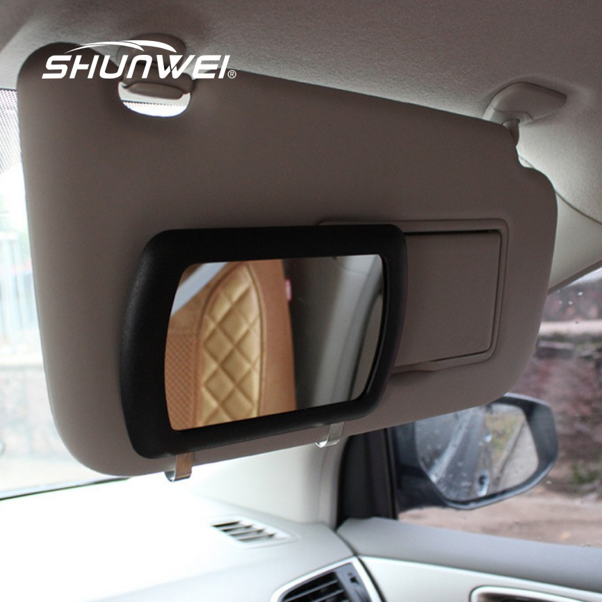Sun visor mirror large car makeup sun shading mirror car for Miroir pour voiture