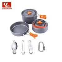 Outdoor Products Camping Teapot Pot Set Aluminum Alloy Portable Camping Cooker Combination Outdoor Set Pot CL305