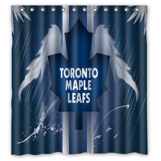 Vixm Home Custom Toronto Maple Leafs Bath Curtains Waterproof Fabric Shower For Decors With