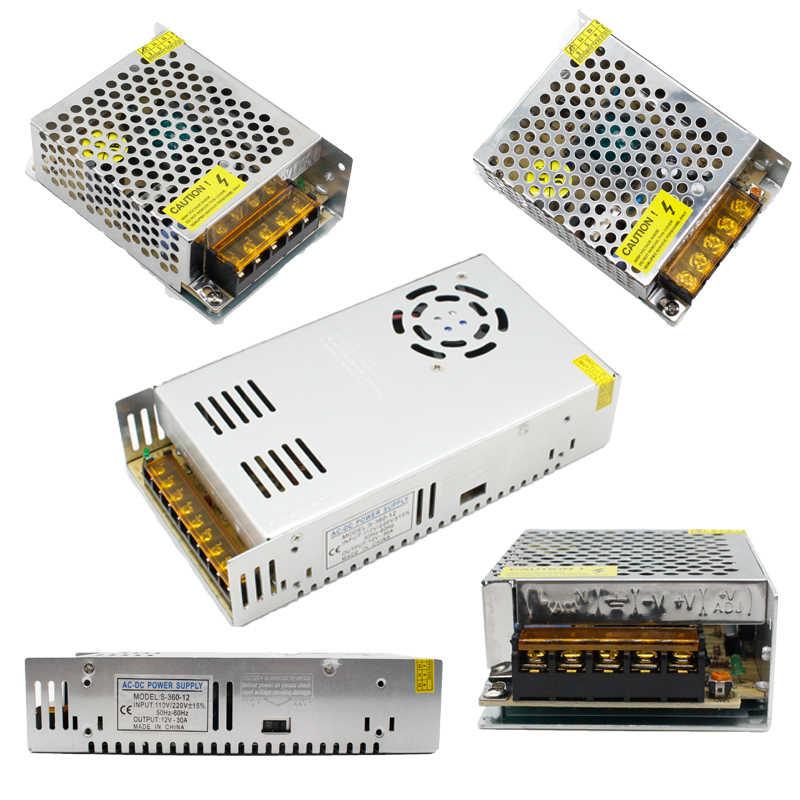 1 stücke AC 110V-220V ZU DC 5V 12V 24V 1A 2A 3A 5A 10A 15A 20A 30A 50A Schalter Netzteil Treiber Adapter LED Streifen Licht