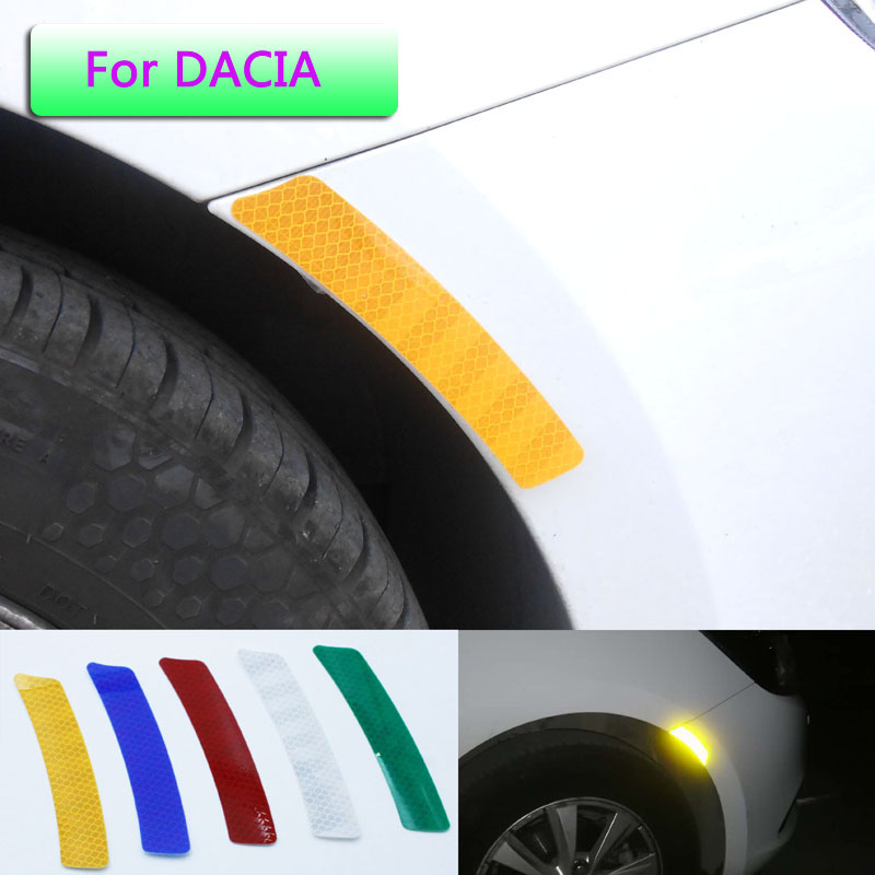 The strong reflector wheel eyebrow warning sticker is suitable for DACIA key Logan scraper sandero lodgy sandero MCV accessories