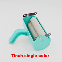 Fix For 7inch 3D Rubber Pattern Roller Wall Decoration Painting Tools Wall Painting Handle Grip With