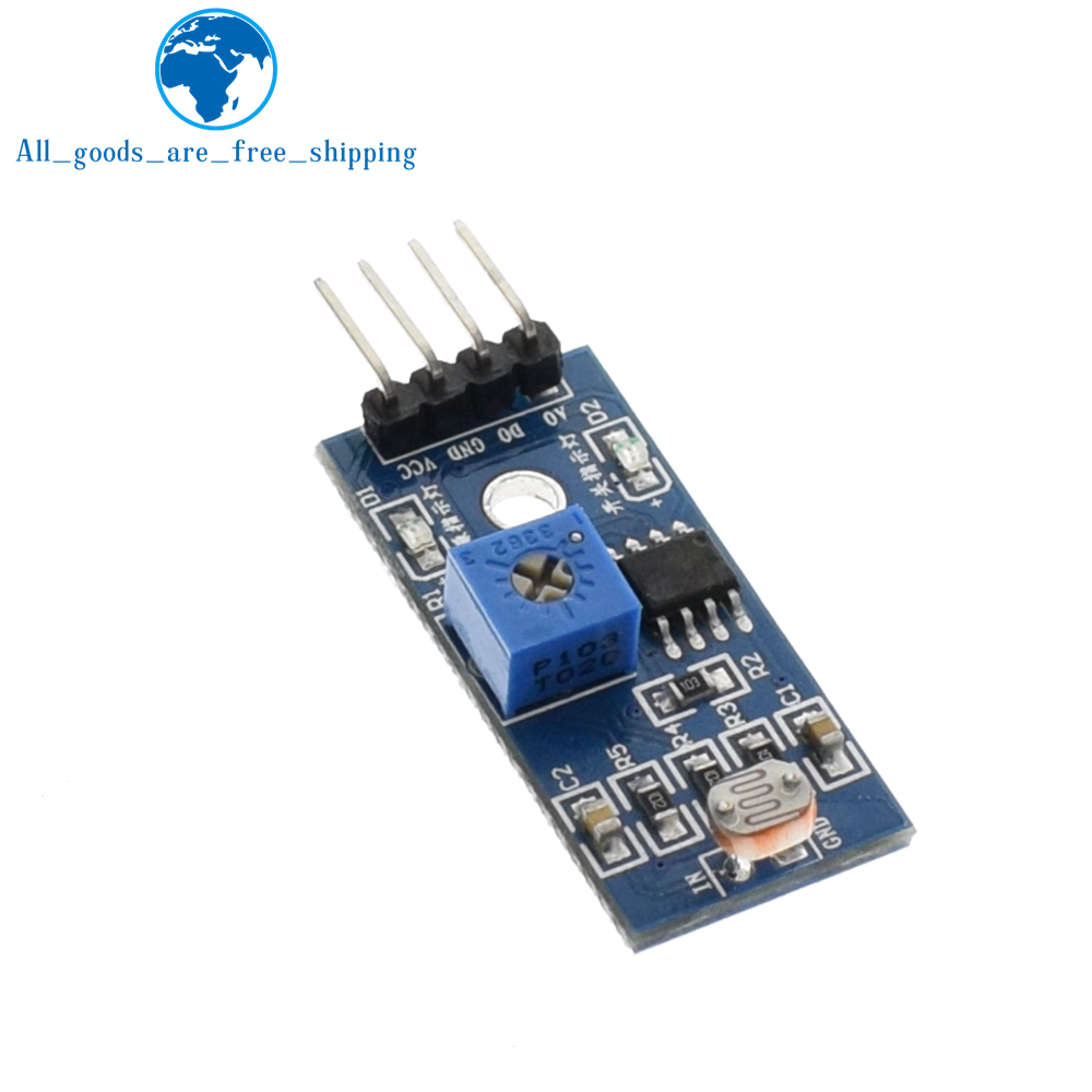 Tzt 1pcs Photosensitive Brightness Resistance Sensor Module Light By The Resistor Of This Circuit Is A Diagram Intensity Detect New In Sensors From Electronic Components Supplies On
