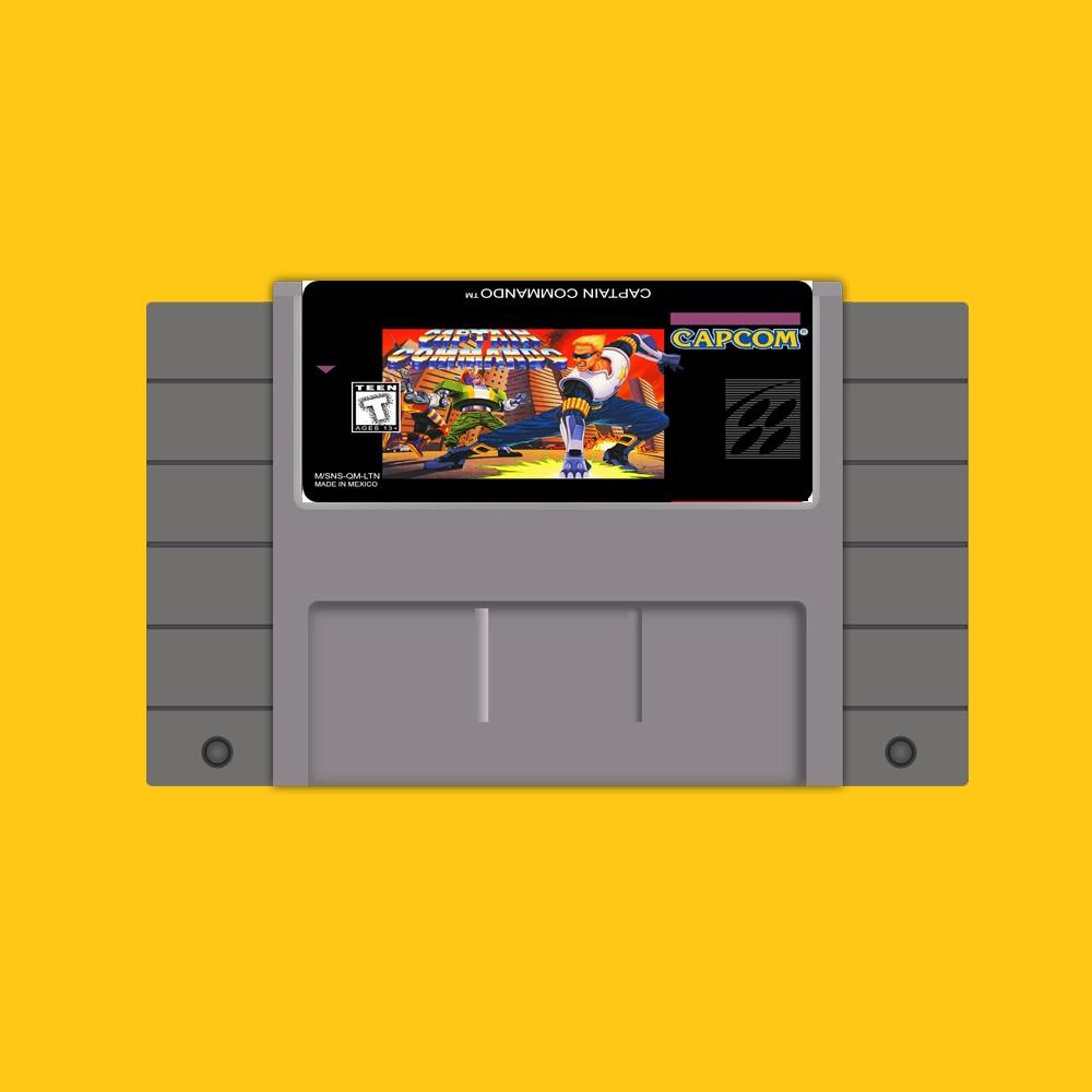 Captain Commando 46 Pin 16 Bit Grey Game Card For USA NTSC Game Player