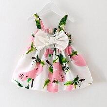 Knee-length Sleeveless Bow Cute New Baby Dress Girls Clothes Slip Infant Girl Dresses For Princess Birthday Sale Hot
