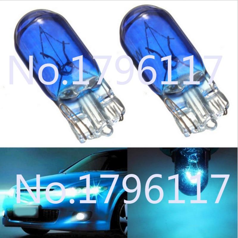 Cool Blue Light Bulbs: 10pcs 12V T10 W5W 194 501 Cool White 5W Car Halogen Bulb Signal Interior  Car light,Lighting