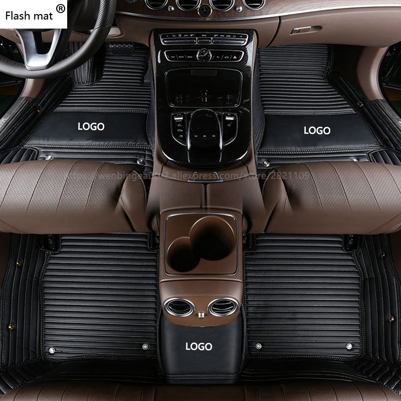 Tapis de sol pour voiture avec Logo Flash pour Honda tous les modèles CRV XRV Odyssey Jazz City crosstour S1 CRIDER VEZEL pour tapis de pied automatique Accord
