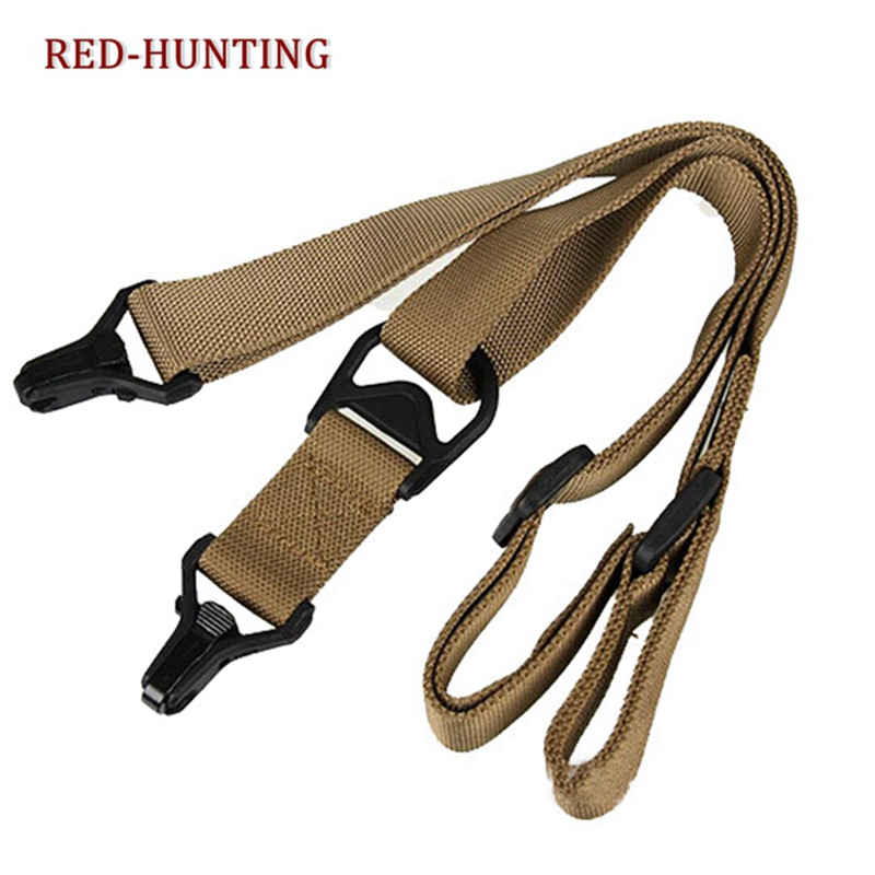4pcs Accessories Adjustable Tactical Hunting 2 Point Rifle Bungee Sling