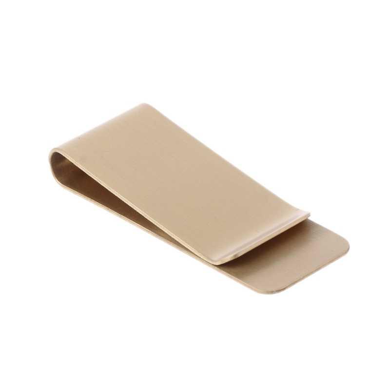 THINKTHENDO Тонкий Карманный латунный металлический зажим для мужчин кошелек кредитные карты наличные зажим для денег кошелек