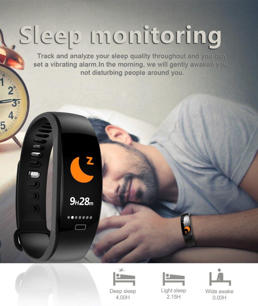 Torntisc F64HR Heart rate smart bracelet IP68 Waterproof Color screen Blood pressure oxygen Fitness tracker Smart band GPS watch (5)