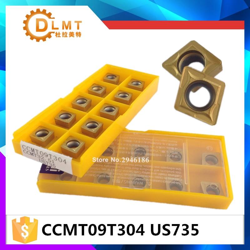 20tk / komplekt DFUTE CCMT09T304 US735 Karbiidi freesimine ja - Tööpingid ja tarvikud - Foto 1