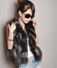 2016 new Free shipping genuine fox fur vest Women's clothing Natural Fox fur coat Style Newest Hot selling