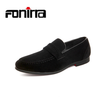 FONIRRA Fashion Suede PU Leather Men Loafers Slip On Casual Shoes Male Boat Flats Men Moccasins