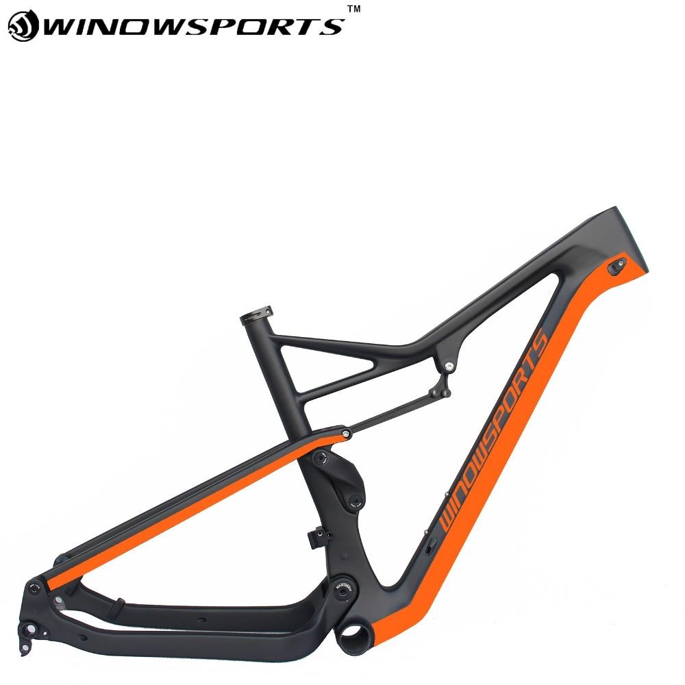 Full Suspension Carbon Mountain Bike Frame 29er Boost 148*12 XC MTB Frameset Carbon Size 15.5/17.5/19.5 Inch Mountain Bike Frame