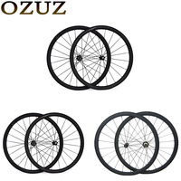 OZUZ Novatec A271SB Powerway R13 38 50 88mm Carbon Clincher Tubular Standard wheel Ultra Light Carbon Road Bike Bicycle Wheelset