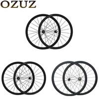 OZUZ Novatec A271SB Powerway R13 R36 38 50 88mm Carbon Clincher Tubular Standard wheel Straight Pull Carbon Bicycle Wheelset