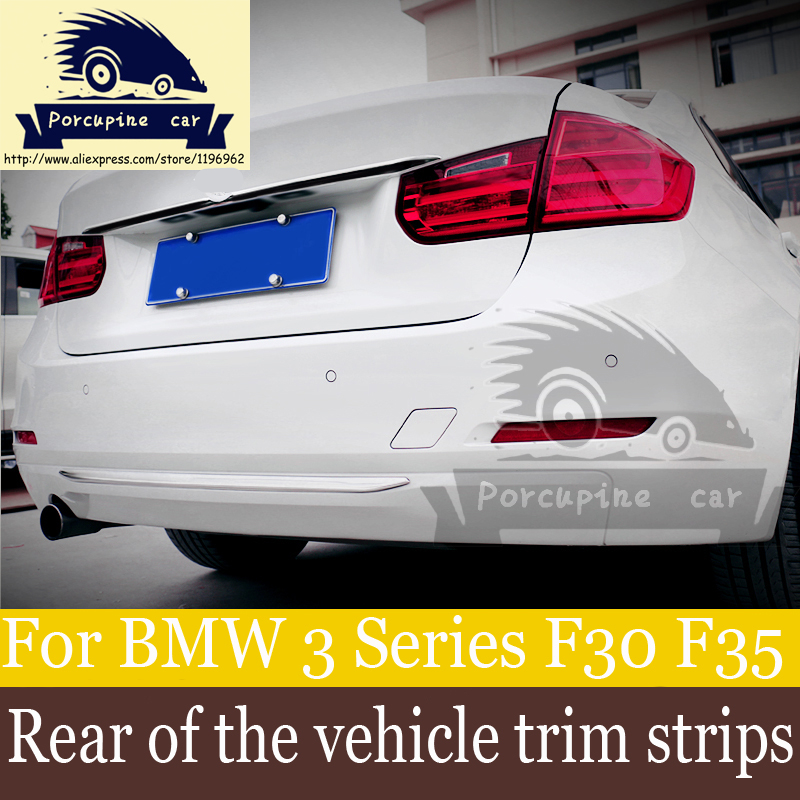 Rear Guard Protector Decals Car Stickers Car Style Trim Covers Rear bumper, emblem decorated stickers For BMW F30 320 318316