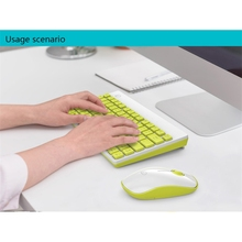 Ultra-Thin Wireless Mini Gaming Keyboard and Mouse Set Kit 2.4GHz Silent Mouse Keyboard Combo for Desktop Notebook