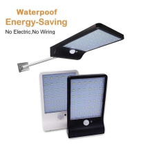 Aluminum pole 48/36 LED Motion Sensor Outdoor Waterproof Solar light Pathway street spot floodlight solar lamp 3 mode
