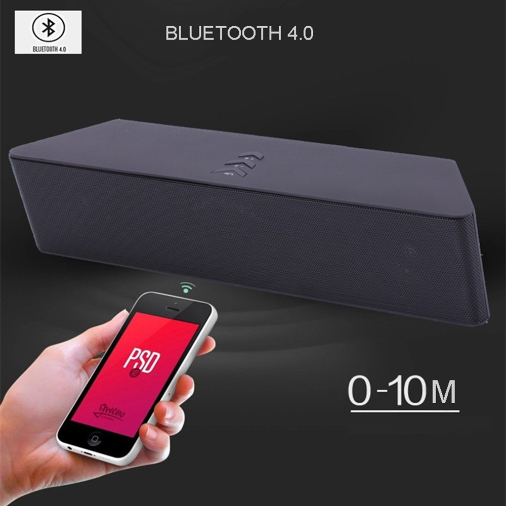 Super Bass Portable Bluetooth Speaker 4.0 Big Powerful 10W Soundbar Wireless Stereo Sound Box with DSP Noise Reduction Mic (5)