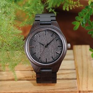 Image 4 - BOBO BIRD WH05 Brand Design Classic Ebony Wooden Mens Watch Full Wood Strap Quartz Watches Lightweight Gift for Men Carton Box