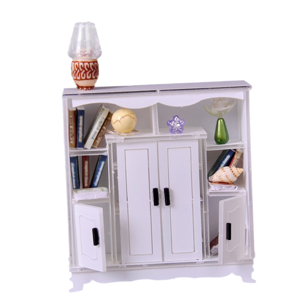 European Style 1/12 Scale Cabinet Cupboard For Dolls House Room Garden Decor