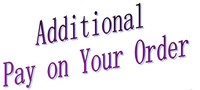 Additional Pay On Your Order For Freight Better Quality Your Special Requirement And Other Fee As
