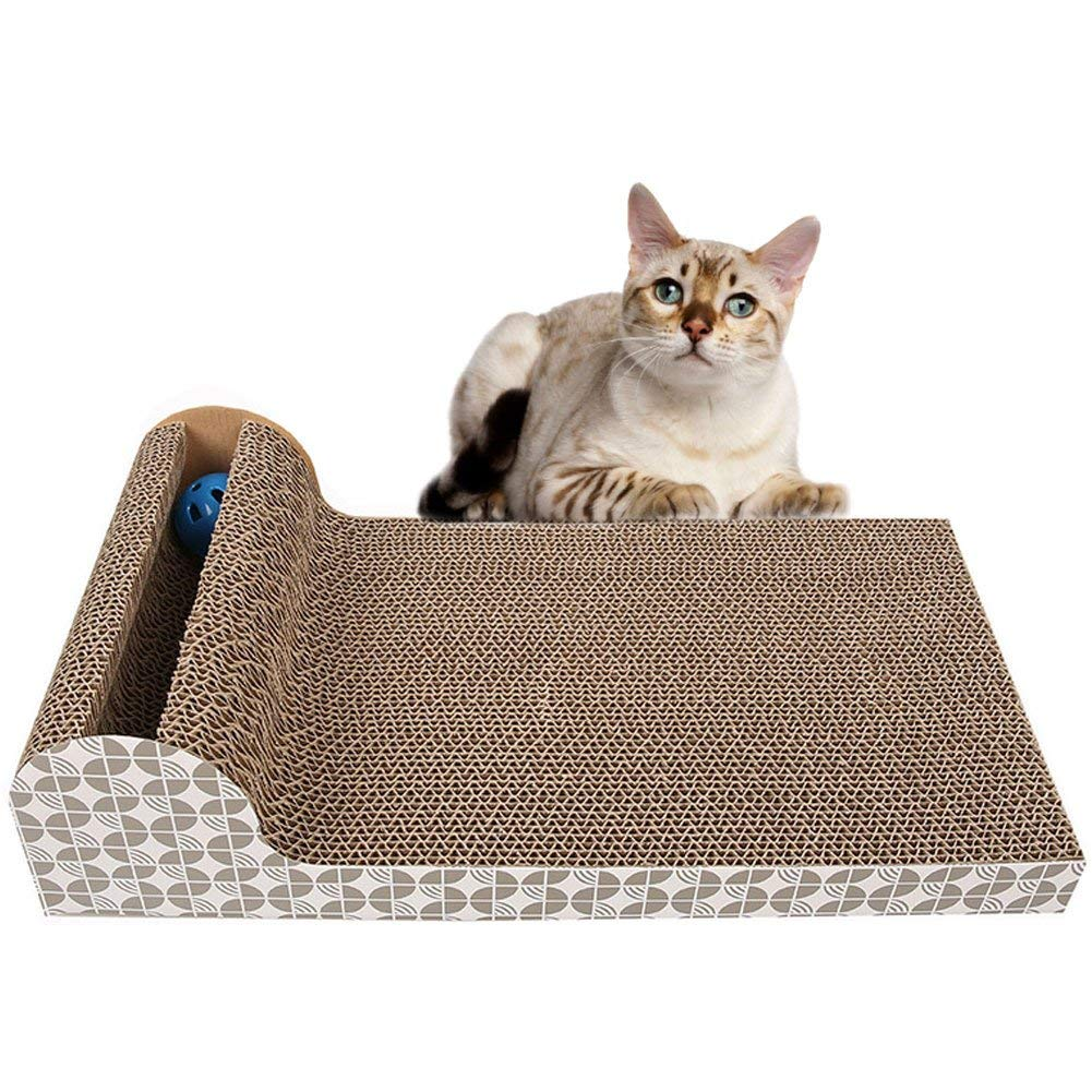 Cat Scratcher Corrugated Scratching Board Pad Kitten Claws Care Interactive Cat Toys with Catnip Bell Ball Products for Cats