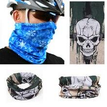 Crânio Bandana Bicicleta Capacete Da Motocicleta Máscara Facial Neck Paintball Ski Balaclava UV Máscara Facial Magia Cap Headwear Cachecol casuais