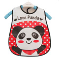 Ranslucent Baby Bibs Waterproof 45*28cm Baby Feeding Slabbetjes Cartoon Panda Avental High Quality Babador Bandana Wholesale
