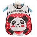 Ranslucent Slabbetjes Alimentação Babadores para bebês À Prova D' Água 45*28 cm Do Bebê Panda Dos Desenhos Animados Avental Babador Bandana de Alta Qualidade Por Atacado