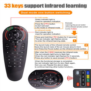 Image 2 - G30 S Voice Remote control 2.4G Wireless Voice Air Mouse 33 keys IR learning Gyro Sensing Smart remote for Game android tv box