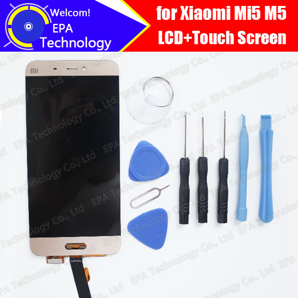 ФОТО 100% Higt Quality for Xiaomi 5 Mi 5 M 5 1920X1080 FHD 5.15 inch LCD Display + Touch Screen Digitizer Assembly Replacement +Tools