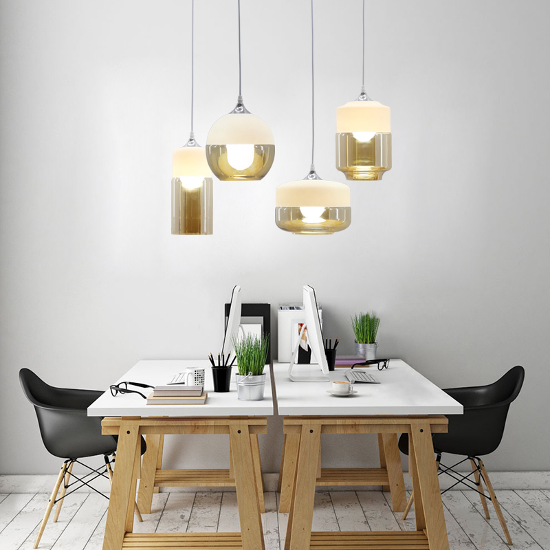 modern design glass bottle pendant light restaurant bedroom balcony aisle American Nordic style hanging lamps