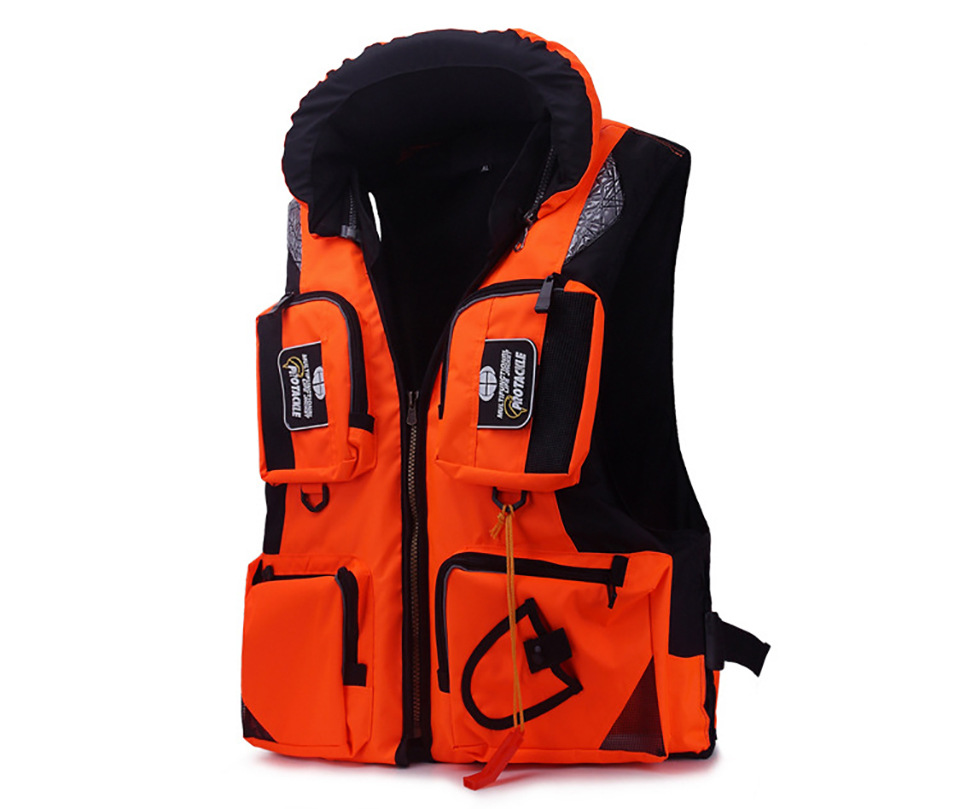 Image 4 - Fishing Vest Adjustable Portable Mutil Pocket Outdoor Sport Life Safety Jacket Cycling Swimming Sail Fishing Clothes-in Fishing Vests from Sports & Entertainment