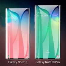 10 unids/lote 3D de vidrio curvado para Samsung Galaxy Nota 10 de la cubierta completa 9 H Protector de película Protector de pantalla para Samsung nota 10 Pro