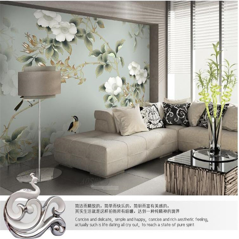 beibehang Custom photo wallpaper High quality silk cloth  delicate flowers retro American large mural wall paper for living room custom photo wallpaper high quality wallpaper personality style retro british letters large mural wall paper for living room