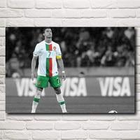Cristiano Ronaldo Poster Football Madrid Wall World Cup Soccer Silk Art Posters 12x18 16X24 20x30 24x36