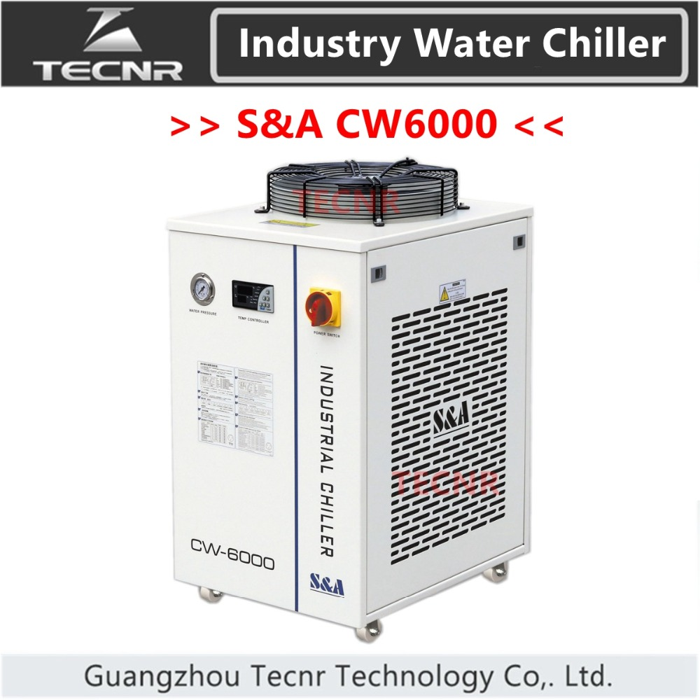 S&A CW6000 industrial water cool chiller for <font><b>laser</b></font> machine cooling <font><b>300W</b></font> <font><b>co2</b></font> <font><b>laser</b></font> <font><b>tube</b></font> 3000W capacity image