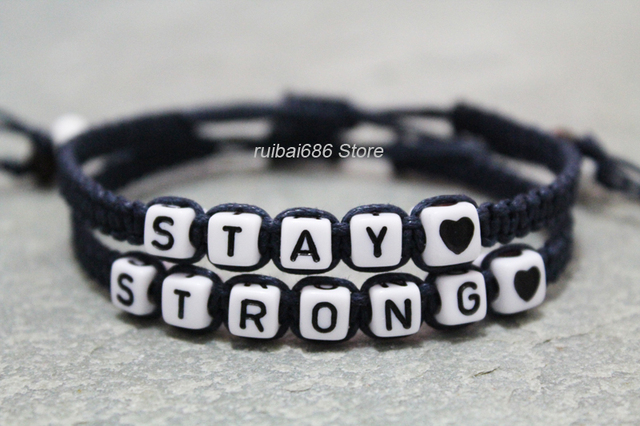 Stay Strong S Bracelet Handmade His Hers Personalized Gift