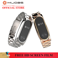 Stainless Steel Metal Plus For Xiaomi Miband 2 Smart Bracelet Replacement Band From Mijobs