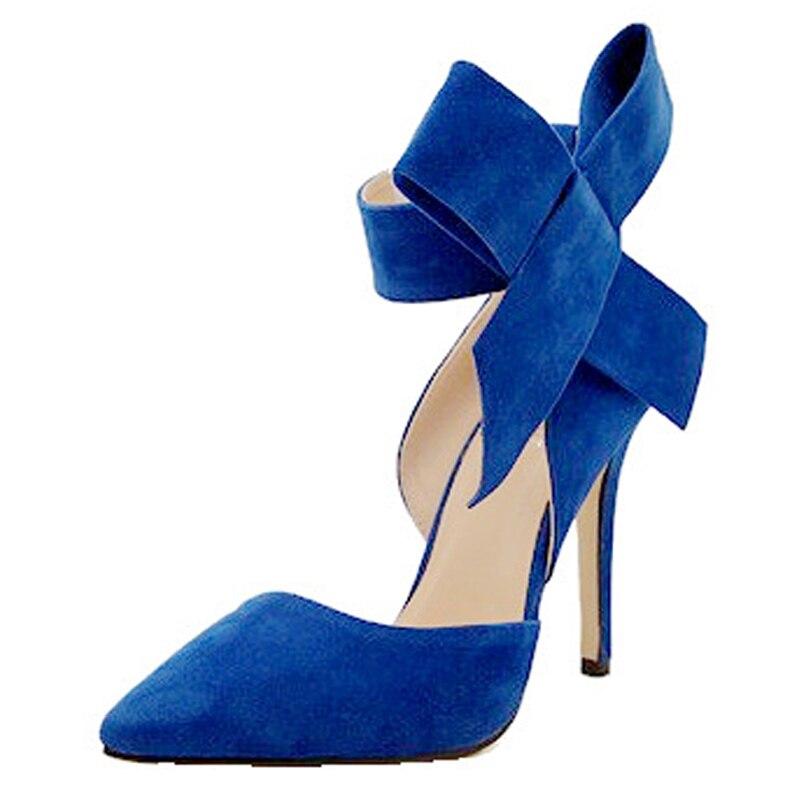 pink Arco De Buty red Mujeres blue Pegajosa green Grandes Damskie Talón Tamaño Sexy Mujer Zapato Stiletto Ante Hebilla Las Gran 2018 Zapatos Black Tacones Alto OACxgwqnqY