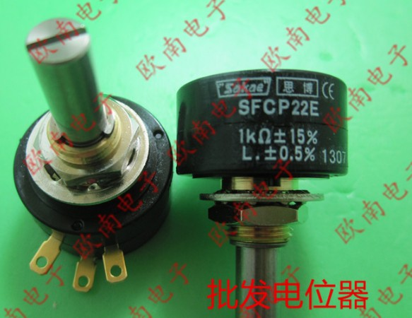 [VK] ORIGINAL Japan sakae SFCP22E 1K 2K 5K 10K Conductive plastic precision potentiometer switch (have a stop bit) [vk] helipot r257c 10k conductive plastic potentiometer 360 degree turn switch
