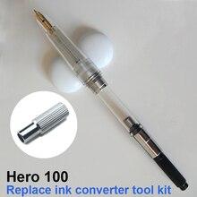 Hero 100 lápiz de repuesto para estilográfica, kit de herramientas especiales para desmontar, convertidor de tinta