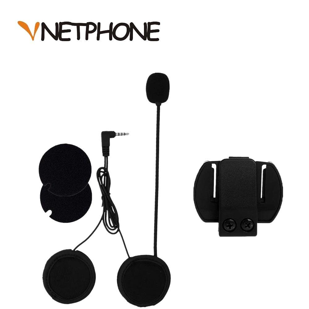 Vnetphone V6 V4 Motorcycle Helmet Bluetooth Headset Accessories Ordinary Intercom Microphone Speaker Interphone Earphone Tool